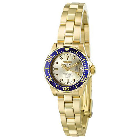 Invicta Women's 4610 Pro Diver Quartz 3 Hand Champagne Dial Watch