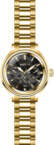 Invicta Women's 28735 Angel Quartz 3 Hand Black Dial Watch
