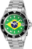 Invicta Men's 28699 Pro Diver Automatic 3 Hand Green, Yellow, Blue Dial Watch