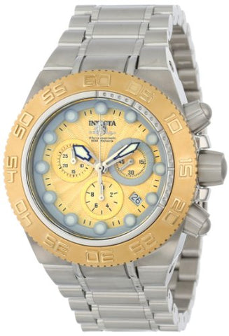 Invicta 10857 Men's Subaqua Chronograph Gold Textured Dial Stainless Steel Watch