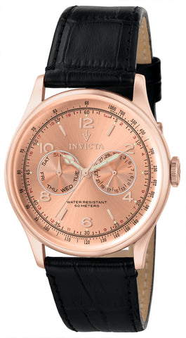 Invicta Men's 6752 Vintage Quartz Multifunction Rose Gold Dial Watch