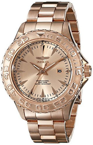 Invicta Men's 15470 Pro Diver Quartz 3 Hand Rose Gold Dial Watch