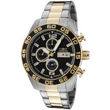 Invicta Men's 1015 II Chronograph 18k Gold-Plated and Silver-Tone Stainless S...
