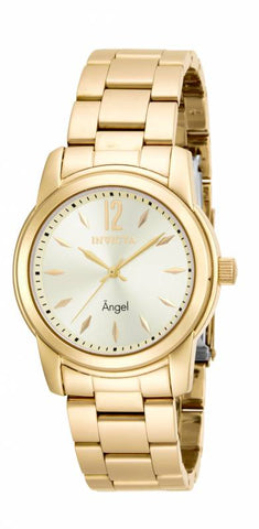 Invicta Women's 17420 Angel Quartz 3 Hand Gold Dial Watch