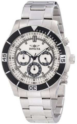 Invicta 12841 Men's Specialty Chronograph Silver Dial Watch