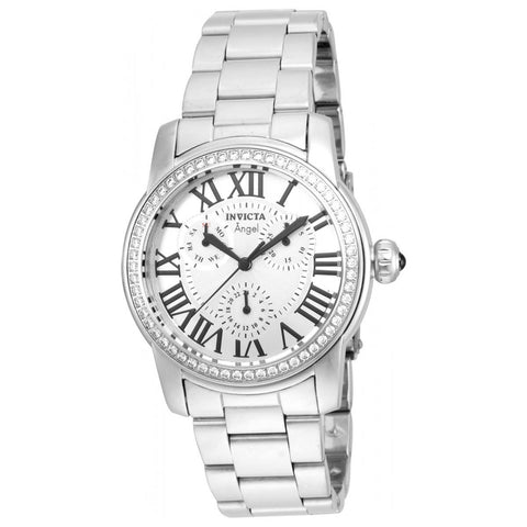 Invicta Women's Angel Steel Bracelet & Case Quartz Analog Watch 21705