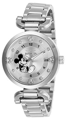 Invicta Women's 27290 Disney  Quartz 3 Hand Silver Dial Watch