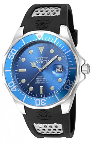 Invicta Men's 17575 Pro Diver Automatic 3 Hand Metallic Blue Dial Watch