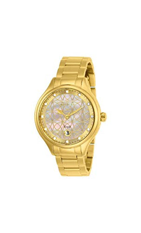 Invicta Women's 27434 Angel Quartz 3 Hand White Dial Watch