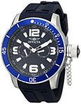 Invicta 1791 Men's Specialty Navy Blue Textured Dial Navy Blue Silicone Watch