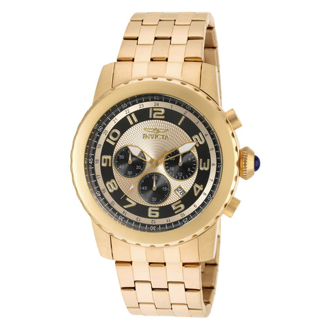 Invicta Men's 19463 Specialty Quartz Chronograph Gold, Black Dial Watch