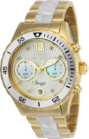 Invicta Women's 24702 Angel Quartz Multifunction Silver Dial Watch