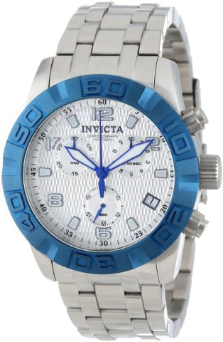 Invicta 11452 Men's Pro Diver Chronograph Textured Dial Stainless Steel Watch
