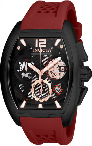 Invicta Men's 26888 S1 Rally Quartz 3 Hand Black Dial Watch