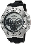 Invicta Men's 23038 Excursion Quartz Chronograph Silver, Black Dial Watch