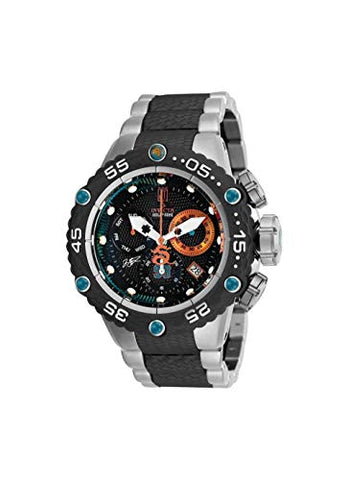 Invicta Men's 25300 Jason Taylor Quartz Chronograph Black, Aqua Dial Watch