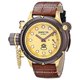 Invicta 16195 Men's Lefty Russian Diver Analog Display Mechanical Brown Watch