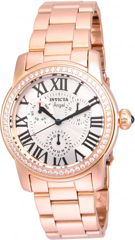 Invicta Women's Angel Rose Gold-Tone Steel Bracelet & Case Quartz  Watch 21706