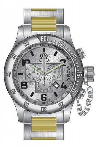 Invicta Men's 15472 Russian Diver Quartz Chronograph Silver Dial Watch