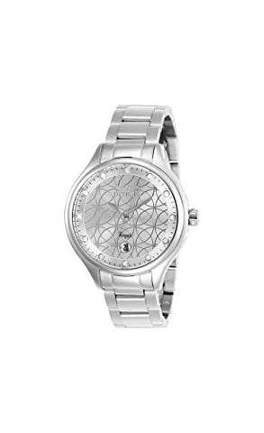 Invicta Women's 27437 Angel Quartz 3 Hand Silver Dial Watch