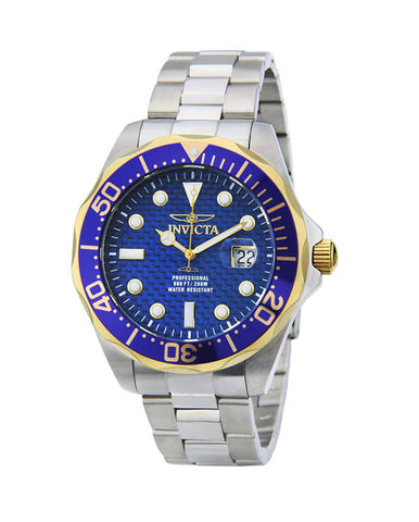 Invicta Men's 12566 Pro Diver Quartz 3 Hand Blue Dial Watch