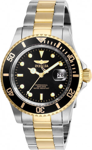 Invicta Men's 26973 Pro Diver Quartz 3 Hand Black Dial Watch
