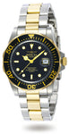 Invicta  Men's 9309 Pro Diver Quartz 3 Hand Black Dial Watch