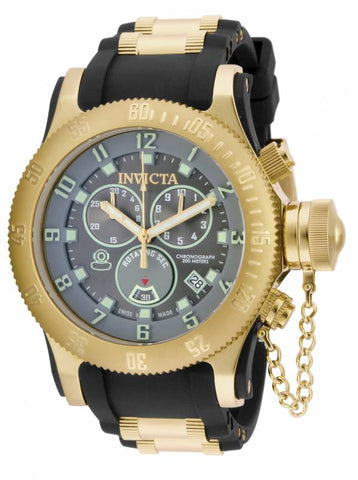 Invicta Men's 15564 Russian Diver Quartz Chronograph Dark Grey Dial Watch