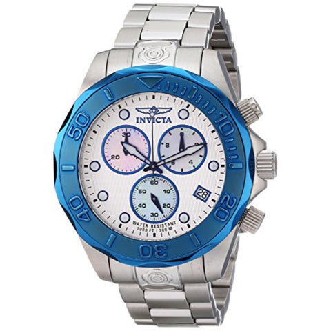 Invicta 11449 Men's Pro Diver Chronograph Textured Dial Stainless Steel Watch