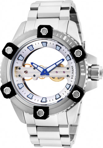 Invicta Men's 26485 Reserve Mechanical 2 Hand Silver Dial Watch