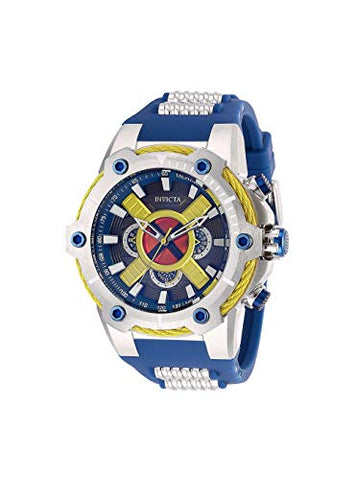 Invicta Men's 27486 Marvel Quartz Multifunction Dark Red, Yellow, Blue, Gunmetal Dial Watch