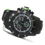 Invicta 13935 Men's Quartz Black Dial Chronograph Display PU Strap Watch