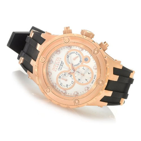Invicta 80414 Men's Reserve Subaqua Swiss Rose Gold Tone SS & Rubber Watch