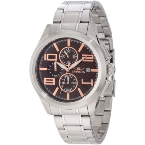 Invicta 12151 Men's Specialty Elegant Chronograph Brown Stainless Steel Watch