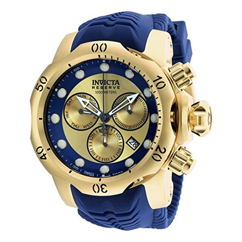 Invicta Men's 90149 Venom Quartz Chronograph Gold, Blue Dial Watch