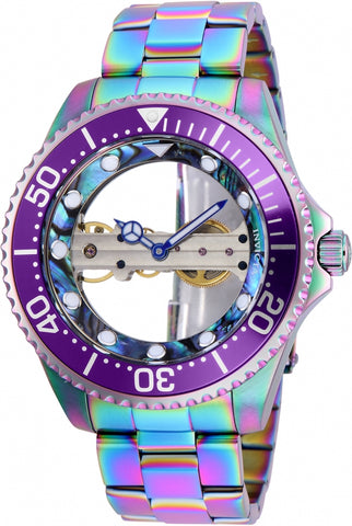 Invicta Men's 26412 Pro Diver Mechanical 3 Hand Green, Blue Dial Watch