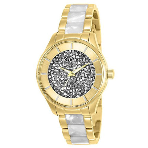 Invicta Women's 25245 Angel Quartz 3 Hand White Dial Watch