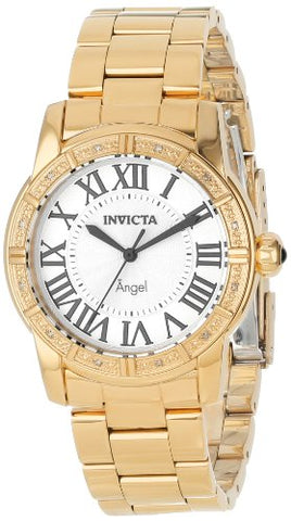 Invicta Women's 14374 Angel Quartz 3 Hand Silver Dial Watch