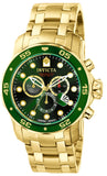 Invicta Men's 0075 Pro Diver Quartz Chronograph Green Dial Watch