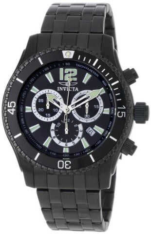 Invicta Men's 0624 Invicta II Chronograph Black Ion-Plated Stainless Steel Watch