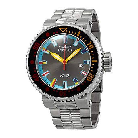 Invicta Men's 27663 Pro Diver Automatic 3 Hand Black, Ocean Blue, Red, Yellow, Blue, White Dial Watch