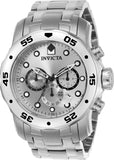 Invicta Men's 0071 Pro Diver Quartz Chronograph Silver Dial Watch