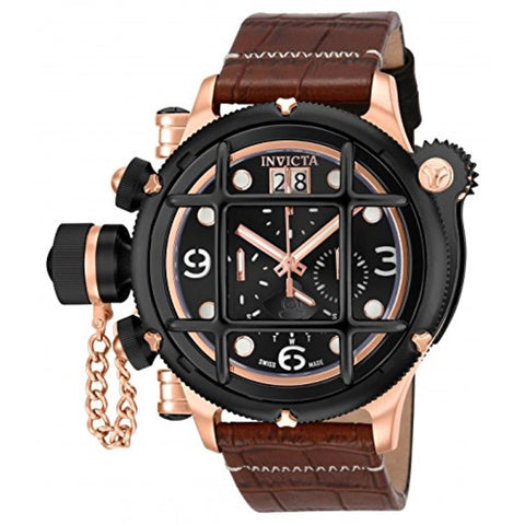 Invicta 17352 Men's Lefty Russian Diver Analog Display Swiss Quartz Brown Watch