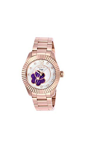 Invicta Women's 27444 Angel Quartz 3 Hand Purple, Rose Gold Dial Watch
