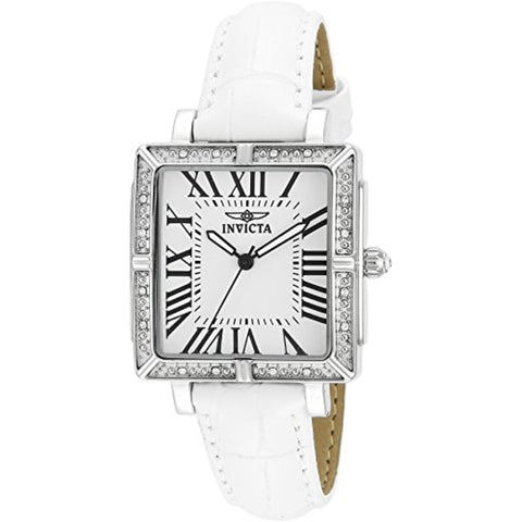 Invicta 14433 Women's Wildflower Swiss Movement White Leather Strap Watch
