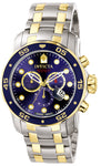 Invicta Men's 0077 Pro Diver Quartz Chronograph Blue Dial Watch