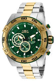 Invicta Men's 25539 Speedway Quartz Multifunction Green Dial Watch