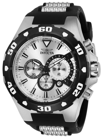 Invicta Men's 24678 Pro Diver Quartz Multifunction Silver Dial Watch