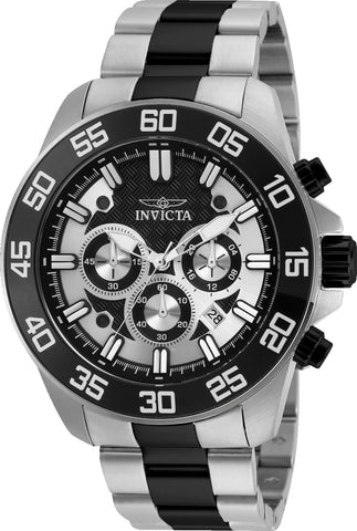 Invicta Men's 24730 Pro Diver Quartz Chronograph Black Dial Watch