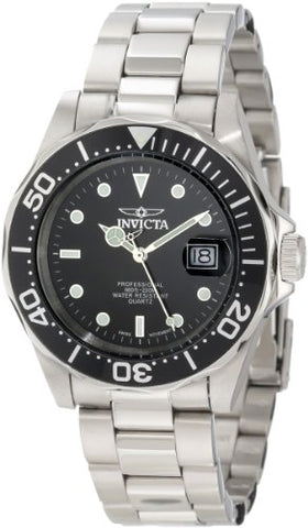Invicta Men's 9307 Pro Diver Quartz 3 Hand Black Dial Watch